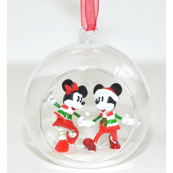Mickey and Minnie Christmas bauble Ornament, Disneyland Paris