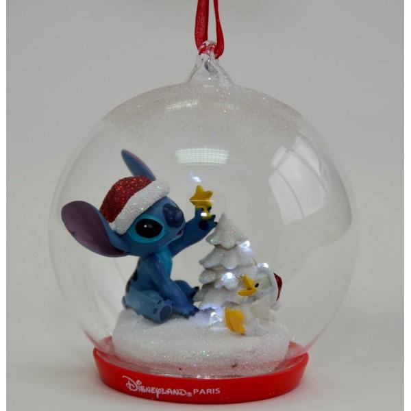 Disney Stitch Light-up Christmas Bauble, Disneyland Paris