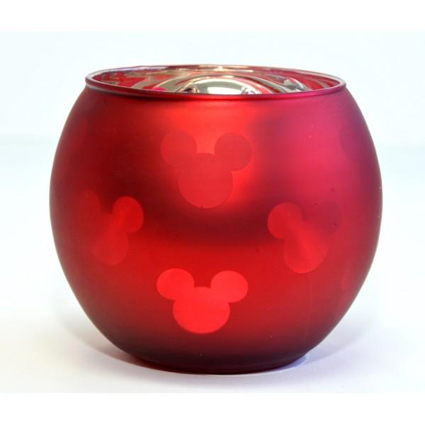 Mickey Mouse Christmas red Tea light candle Holder, Disneyland Paris