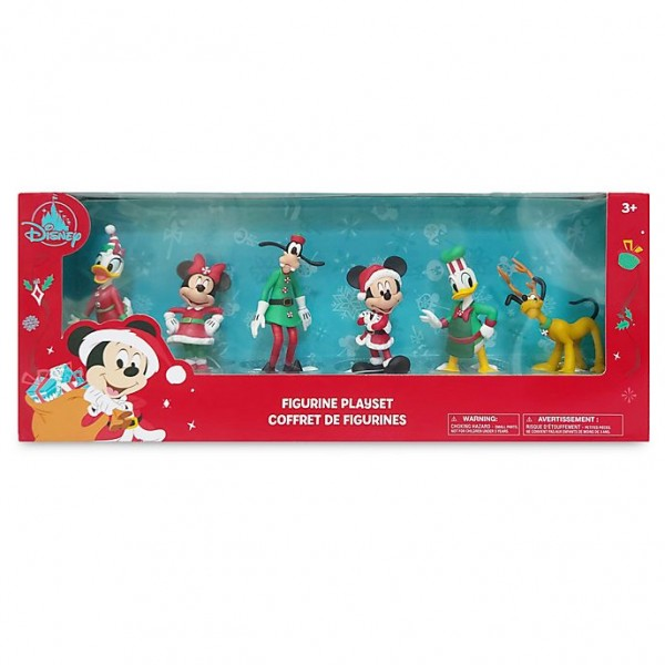 Disney Mickey and Friends Christmas Figurine Playset