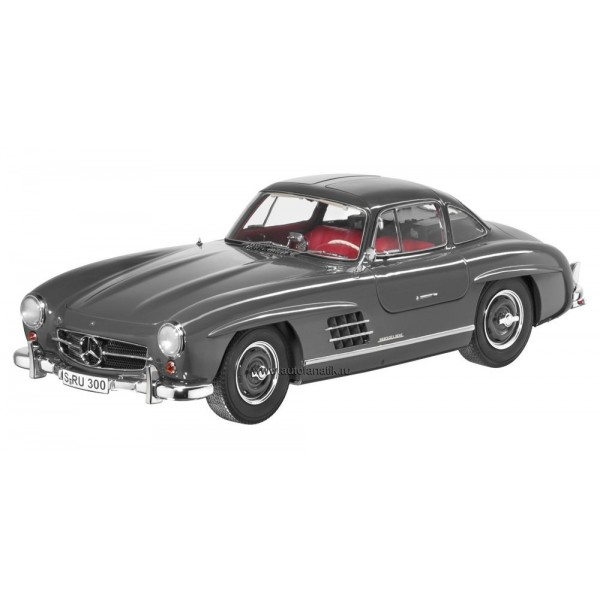 1:12 Mercedes-Benz 300 SL Gullwing Graffiti Grey, Diecast Model (Dealer Box)