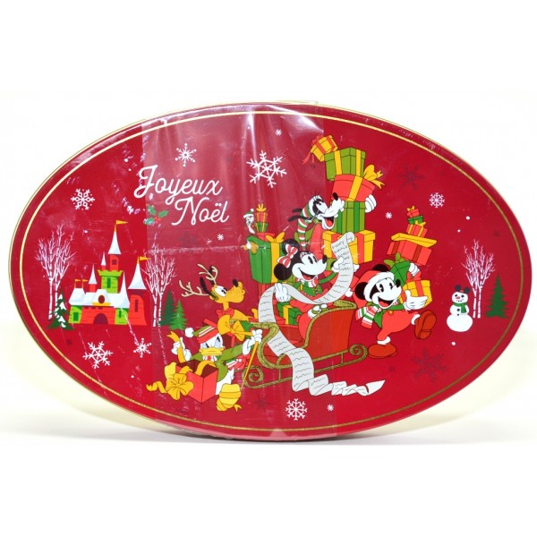 Disney Characters Christmas Chocolates in a Tin box, Disneyland Paris