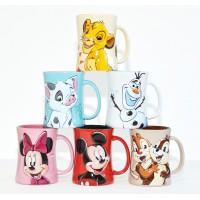 Disney Characters Portrait Coffee Mugs - Set of 6, Disneyland Paris