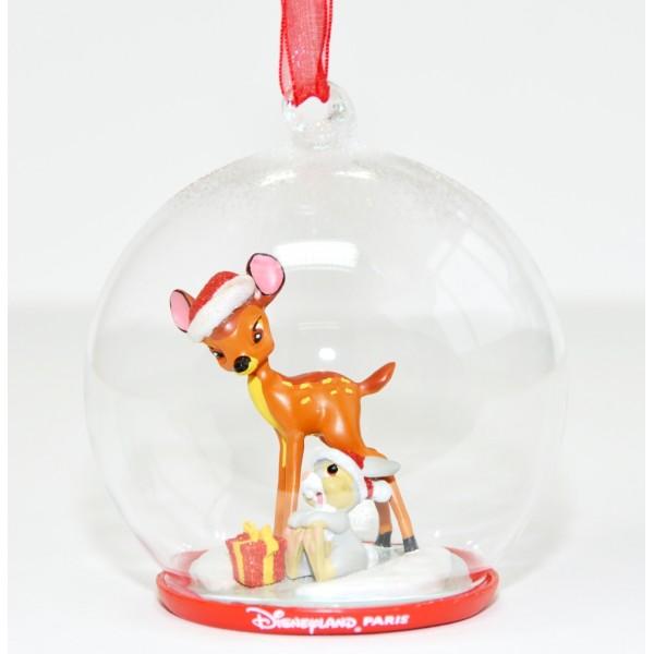 Bambi and Thumper Christmas bauble Ornament, Disneyland Paris