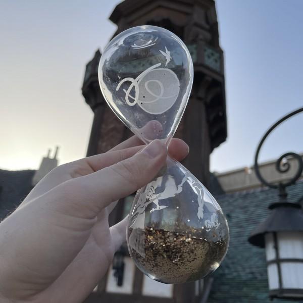 Disney Peter Pan hourglass, Arribas Glass Collection