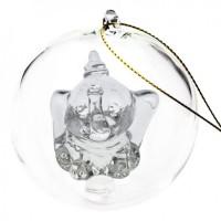Disney Dumbo Christmas bauble, Arribas Glass Collection