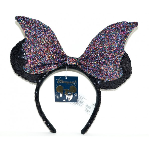Disney Maleficent Bat Sequined Ears Headband, Disneyland Paris