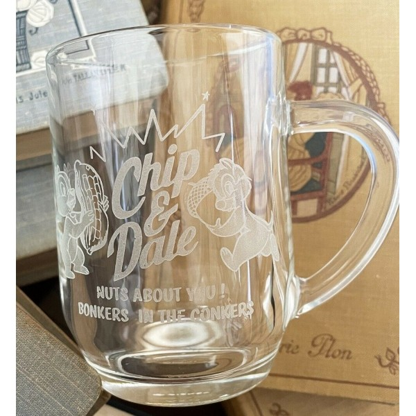 Chip and Dale glass Mug, Disneyland Paris and Arribas Glass Collection