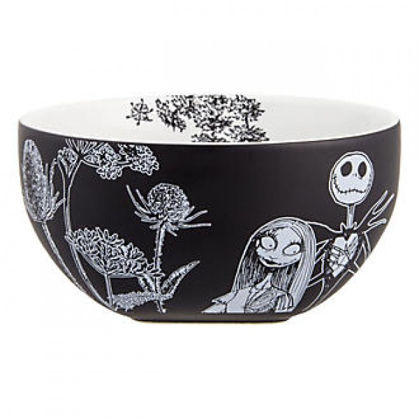 Mr.Jack Skellington and Sally Black and White Bowl