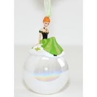 Anna from Frozen in a Christmas bauble, Disneyland Paris