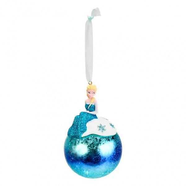 Elsa from Frozen in blue bauble, Disneyland Paris