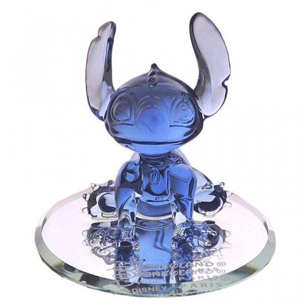 Disney Stitch figure on mirror, Arribas Glass Collection