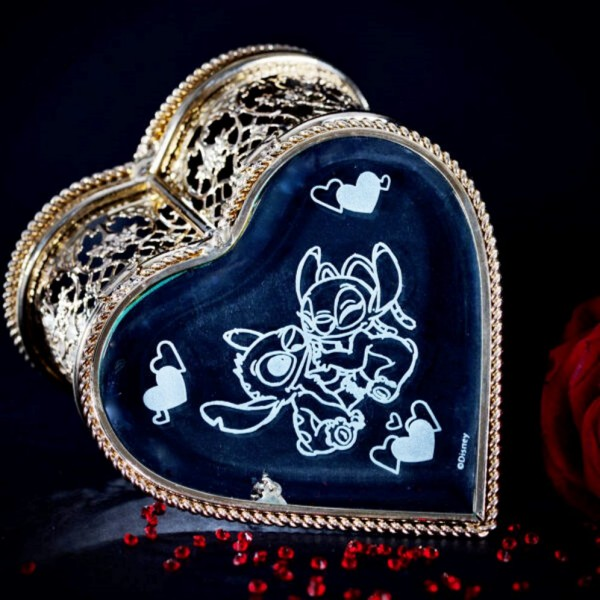 Disney Stitch and Angel Heart Jewellery Box, Arribas Collection