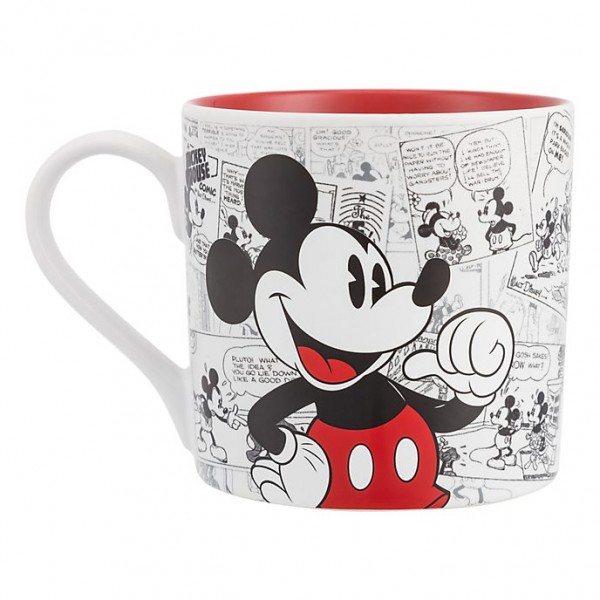 Mickey Mouse Comic-Style Print Mug with Letter A