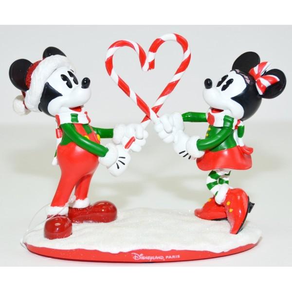 Disneyland Paris Mickey and Minnie Mouse Christmas Figurine