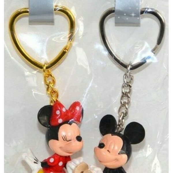Disney Mickey Minnie Mouse Keychains Key Ring