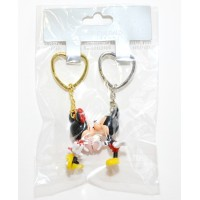 Disneyland Paris Mickey and Minnie Mouse Connecting Keychains Key Ring set