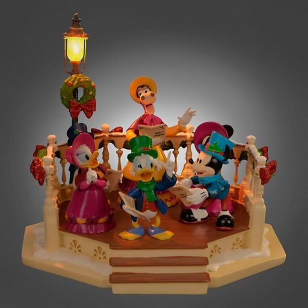 Disney Christmas Characters Carollers Light Up and Musical Figurine, Disneyland Paris