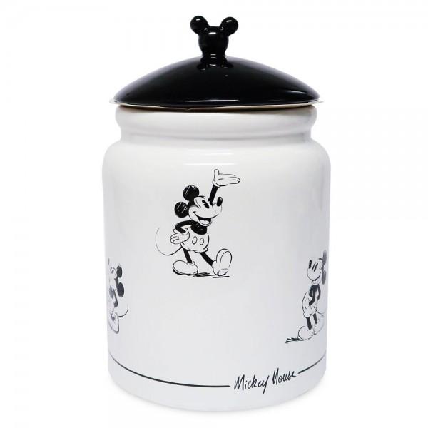 Disneyland Paris Mickey Mouse Comic Black and White Cookie Strip jar