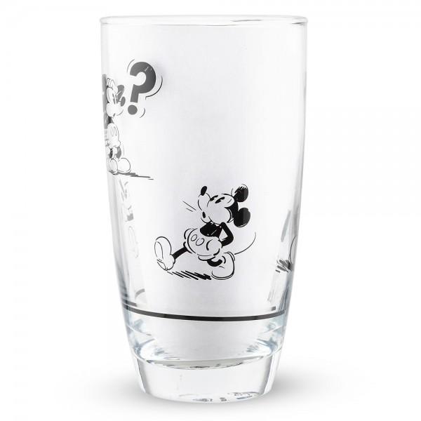 Mickey Mouse Comic Strip BW Tall Glass, Disneyland Paris
