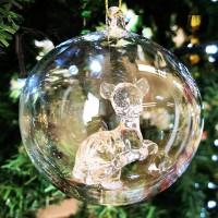 Disney Bambi Christmas bauble, Arribas Glass Collection