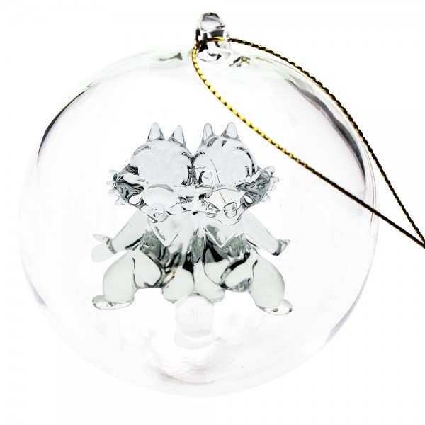 Disney Chip and Dale Christmas bauble, Arribas Glass Collection