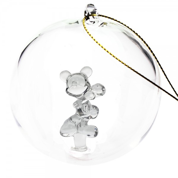 Disney Mickey Mouse Christmas bauble, Arribas Glass Collection