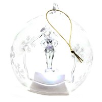 Disney Tinkerbell Illuminated Christmas Bauble, Arribas Glass Collection
