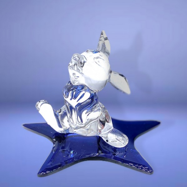 Disney Thumper on a Glass blue star Figure, Arribas Glass Collection