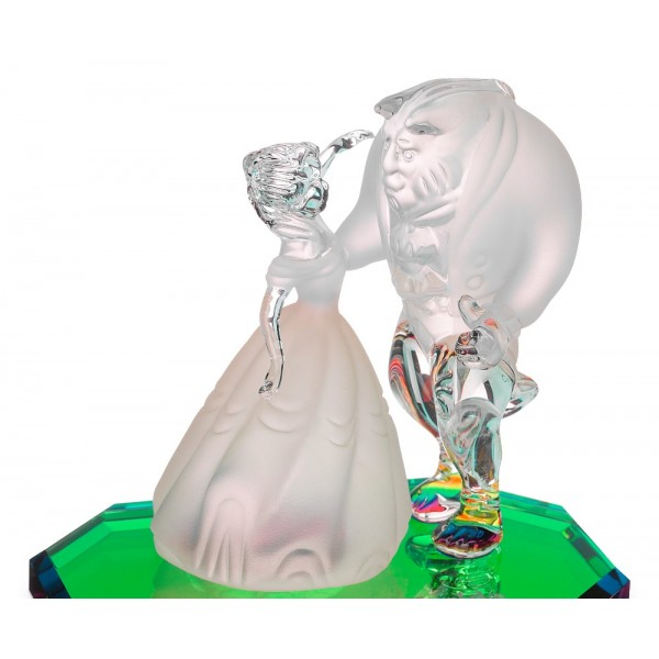 Disney Beauty and the Beast on a glass base, Arribas Glass Collection