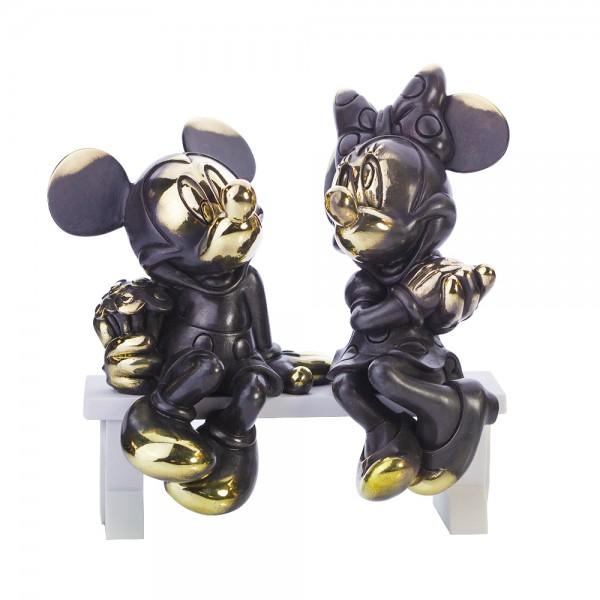 Disney Mickey and Minnie Mouse Arribas Bronze Figurine