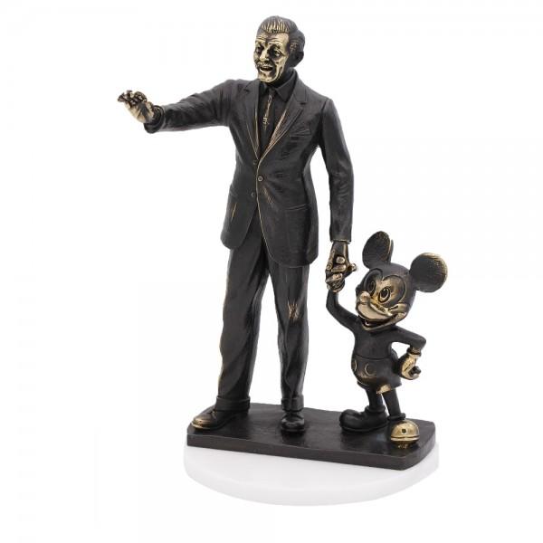 Disney Mickey and Walt Disney Arribas Bronze Figurine