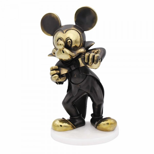 Disney Mickey Mouse Bronze Figurine, By Arribas Collection