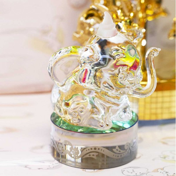 Disney Dumbo on base glass figure, Arribas Glass Collection