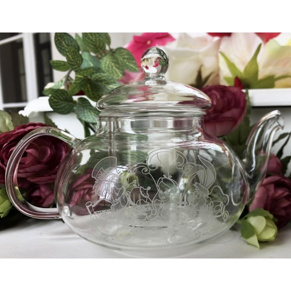 Alice in Wonderland Glass teapot, Arribas Brothers Collection