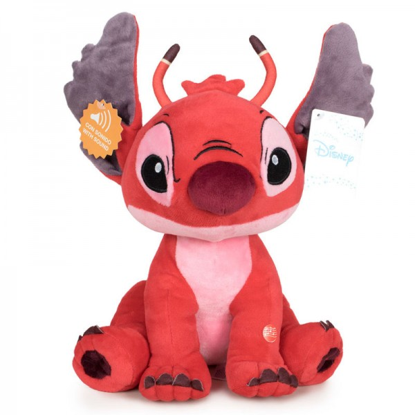 Stitch Leroy soft plush toy with sound