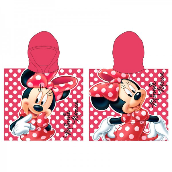 Minnie Mouse Red Poncho Towel