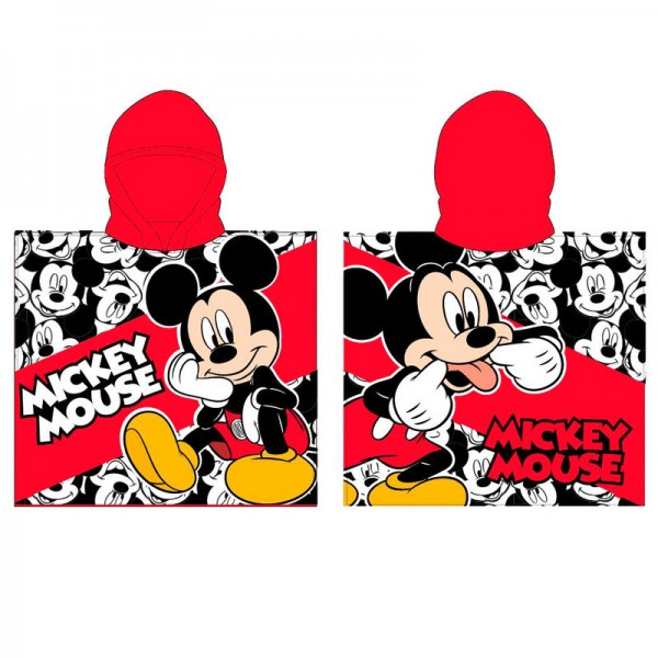 Mickey Mouse red Hooded Poncho Towel for kids - Disney