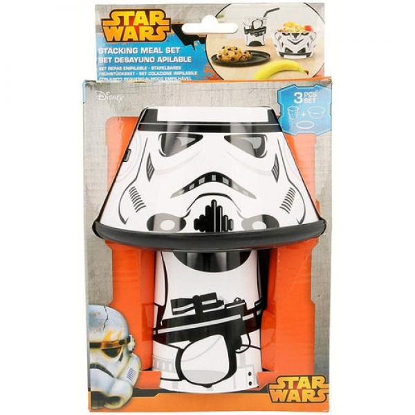 Star Wars Stormtrooper Stacked-up breakfast set, Disney