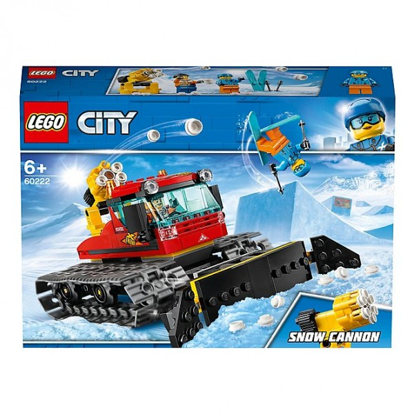 LEGO 60222 City Great Vehicles Snow Groomer with Plough Tracked Toy