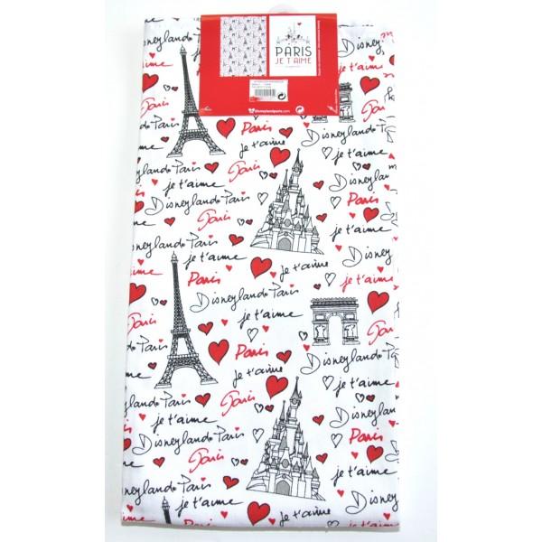 Disneyland Paris Je T'aimeTea Towel Amour Set, Disneyland Paris Original