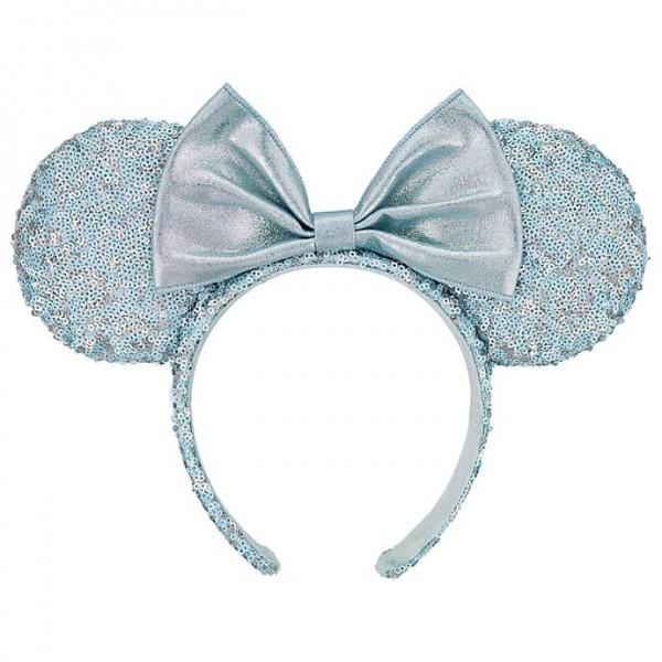 Minnie Mouse Arendelle Aqua Sequined Ears Headband, Disneyland Paris