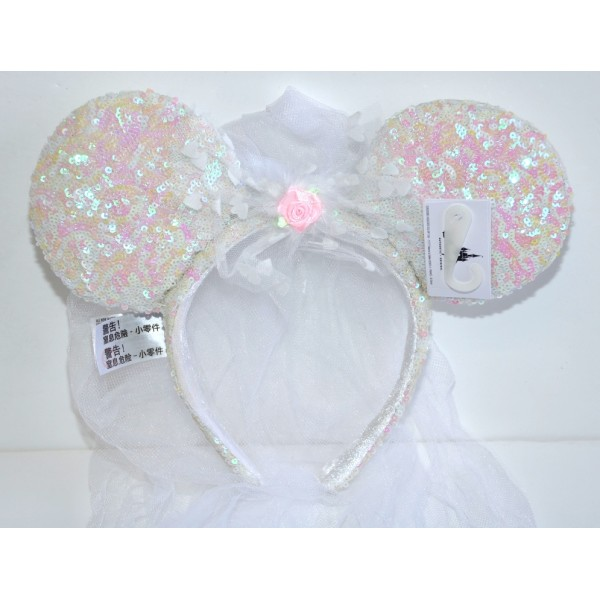 Disney Minnie Mouse Bridal Bride Ears, Disneyland Paris