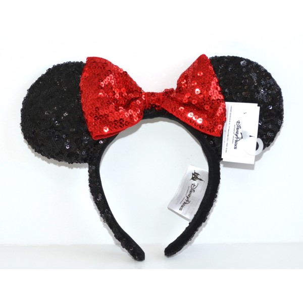 Minnie Mouse Ears Headband – Sequined