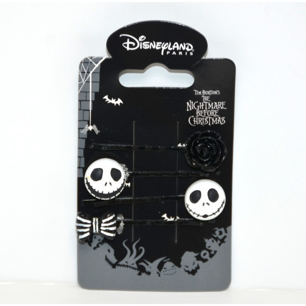 Disney Nightmare Before Christmas Jack Skellington hair clip set