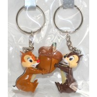Disneyland Paris Chip and Dale magnetic Connecting Keychains Key Ring