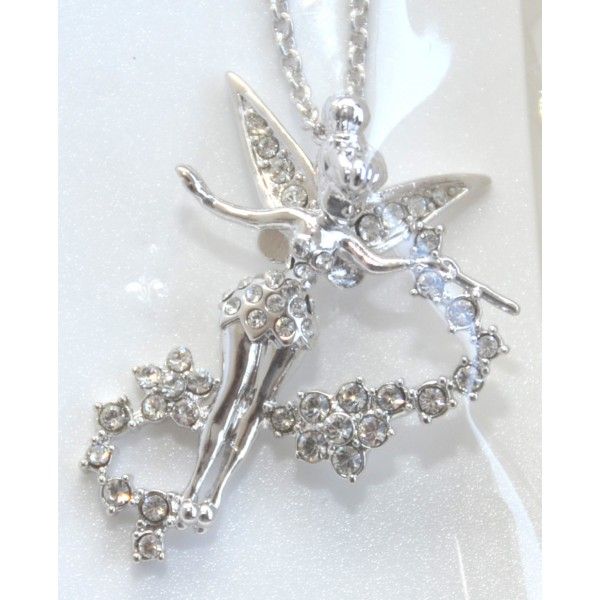 Swarovski Crystal Tinker Bell Fairy Necklace by Arribas