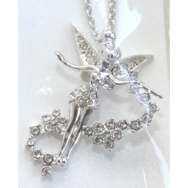 Swarovski Crystal Tinker Bell Fairy Necklace by Arribas