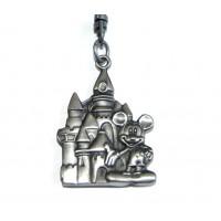 Disneyland Paris Mickey and Castle Metal Keychain Keyring