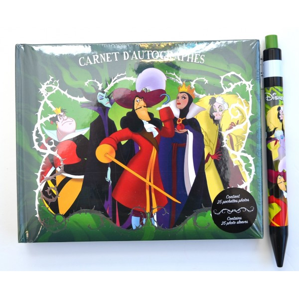 Disney Villains Autograph Book and Pen, Disneyland Paris